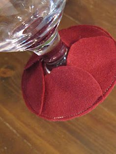 Cozie Coaster - make all different colors so guest can identify their glass
