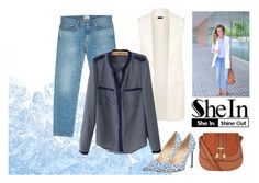 """""""All SheIn set"""" by roohani ❤ liked on Polyvore featuring Acne Studios, Manolo Blahnik, denim, Sheinside, vest and shein"""