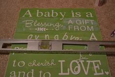 DIY Nursery Word Art