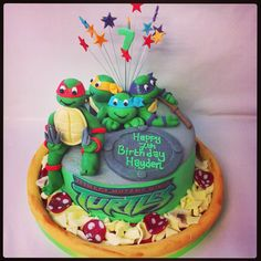 teenage mutant ninja turtles cakes   First time i had made the turtles before too, so was quite pleased on ...