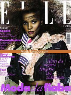 JUST GORGEOUS!!! African SUPERMODEL Liya Kibede Covers ELLE MAGAZINE!!!