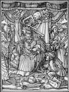 Danza Macabra, (Totentantz, Hans Holbein, 1538): l'Imperatore