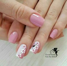 "35 Impressive Pink Nail Art Designs Ideas What are Pink and White Nails? In short, they are what's commonly referred to as a ""French manicure\"" -- pink […] Cute Pink Nails, Pink Nail Art, Pretty Nails, Nail Designs Spring, Cute Nail Designs, Nagel Hacks, Fingernail Designs, White Acrylic Nails, Black Nail"