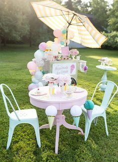 Kids' Pastel Ice Cream Party - Inspired By This
