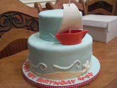 1St Birthday Sailboat Cake  on Cake Central
