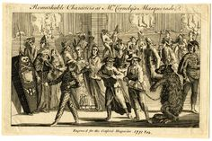 Remarkable Characters at Mrs. Cornely's Masquerade, 1771