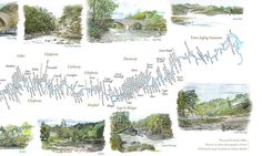 A snippet of the Logie section of the River Findhorn from the Findhorn Fishing Map - available from the gallery or panny@logie.co.uk Fishing Maps, Art Gallery, Tapestry, River, Creative, Hanging Tapestry, Art Museum, Tapestries, Fine Art Gallery