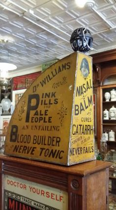 RARE Dr. Williams Blood Builder & Nerve Tonic Country Store Paper Bag Holder