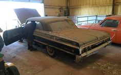 From James V – This car was restored 15 years ago and has sat in a barn ever since! It was originally purchased because it reminded the owner of his mother's car that she had bought brand new back in the. 1964 Impala For Sale, 1964 Impala Ss, Chevrolet Impala, Chevy, Best Barns, Car Sit, S Car, Barn Finds, Old Cars