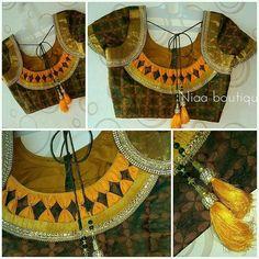Evergreen and trendy saree blouse back designs - Simple Craft Ideas Churidar Neck Designs, Saree Blouse Neck Designs, Designer Blouse Patterns, Fancy Blouse Designs, Patch Work Blouse Designs, Blouse Designs Catalogue, Stylish Blouse Design, Colour Chart, Neck Pattern