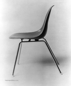 Another view of the Eames wall guard base on a chair, by Herman Miller.  The DSG