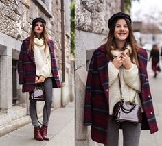 C&A Coat, United Colors Of Benetton Chunky Sweater, Cheap Monday Jeans, Zign Boots, Louis Vuitton Bag, Asos Hat