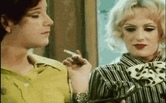 Jackie Curtis & Candy Darling in a still from Warhols film, Flesh. Short but funny, it's the highlight of an otherwise average film. Candy was reading for filth in this scene like only Miss Darling can. Everybody's Darling, Candy Darling, Holly Woodlawn, Paint Photography, Playwright, Losing Her, Walk On, Transgender, Superstar