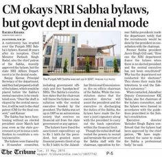 CM okays NRI Sabha bylaws, but govt dept in denial mode #WeSupportSAD #ShiromaniAkalidal