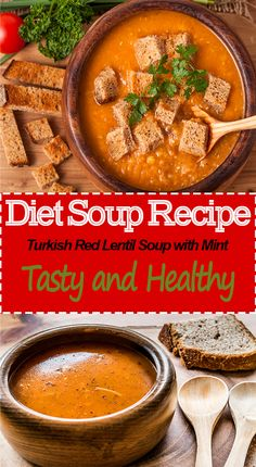 Turkish Red Lentil Soup with Mint – Perfect Body Recipes