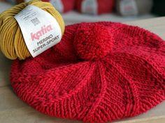 Návod na pletenú baretku - Klbkošopa - blog Tutorial, Crochet, Knitted Hats, Diy And Crafts, Winter Hats, Knitting, Womens Fashion, Handmade, Beret