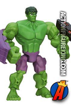 6-inch high Incredible Hulk Marvel Super Hero Mashers action figure from Hasbro. #hulk #avengers #marvelsuperheromashers #actionfigures