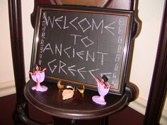 Ideas for greek party decorations, see the script for greek writing.