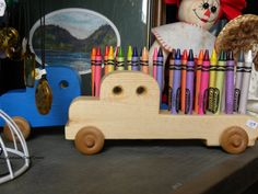 crayon trucks have rolled into the shop! Made by Randy Welters