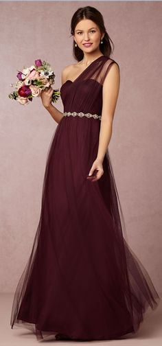 Jenny Yoo Annabelle Dress in Cabernet