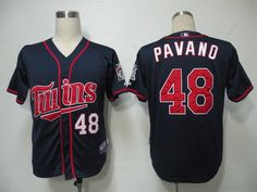 Twins #48 Carl Pavano Navy Blue Cool Base Embroidered MLB Jersey! Only $18.50USD