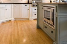 #Kitchen Idea of the Day: Two tone kitchen with light wood flooring.