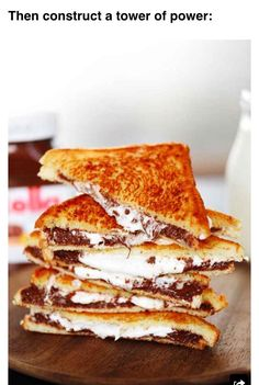 """ Delicious Grilled Nutella & Marshmallow Sandwiches"""