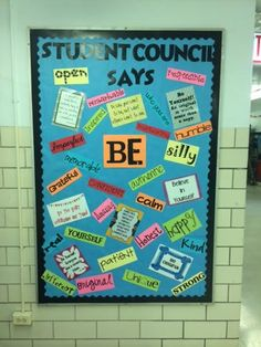 Student Council Bulletin Board                                                                                                                                                     More