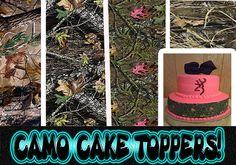 Deer Edible Image Cake Decoration Deer Decoration And Camo