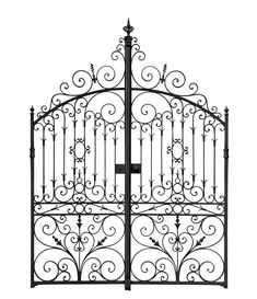 Find Black Forged Gate Decorative Lattice Isolated stock images in HD and millions of other royalty-free stock photos, illustrations and vectors in the Shutterstock collection. Wrought Iron Gate Designs, Wrought Iron Garden Gates, Wrought Iron Decor, Metal Gates, Black Chain Link Fence, Rod Iron Fences, Victorian Irons, La Forge, Door Images