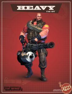 Heavy weapons guy  team fortress 2 fan art