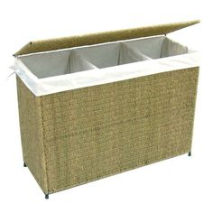 Woven 3-Section Hamper with Liner instead of having seperate hampers
