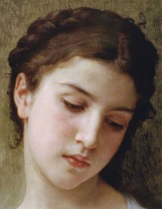 Etude Tete de Jeune detail ~ William-Bouguereau (1825-1905)