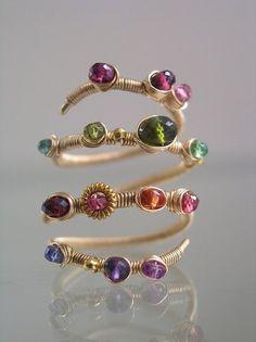 08b899375d73c Biżuteria Z Drutu, Pierścionki, Beaded Jewelry, Pierścionki Z Drutu,  Wplatanie Peruk,