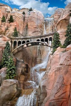 This is actually on the Carsland ride, Radiator Springs Racers at Disney's California Adventure at Disneyland Resort, but HEY, it's a bridge, right?