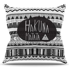 East Urban Home Hakuna Matata by Vasare Nar Outdoor Throw Pillow