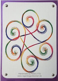 Grußkarten-Set 173 - Motiv: Swirl 02_3 Copyright des Motives: Linda Linzoos - Doppelkarte mit Umschlag im Format A6