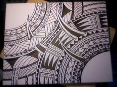 polynesian tribal canvas by: SFT