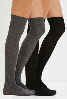 Ribbed Over-the-Knee Socks Pack | Forever 21 - 2000180461