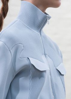 Fashion Detail - Serenity Blue - Pantone Colour of the Year #pleated #jumper