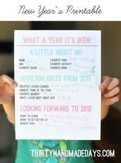 Kids New Year's Resolution Printable...I'm totally doing this with my students once school starts back up!