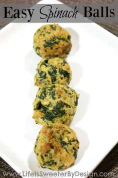 A great appetizer and party food, these spinach balls are quick to make and fun to eat!