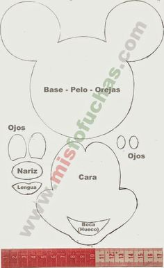 Cumple Mickey Mouse | Invitaciones Mickey Mouse | Moldes Invitaciones Mickey Mouse