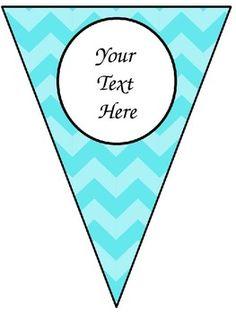 * Freebie*  Editable banner/pennant for classroom