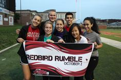 Homecoming! Sign up your group of friends or RSO for Redbird Rumble and compete against others around campus.