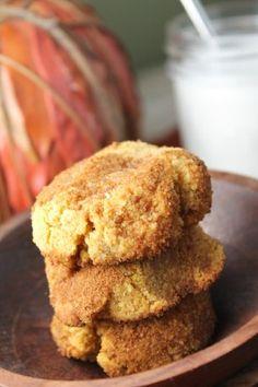 Paleo Pumpkin Snickerdoodles - Egg Free, paleo and vegan