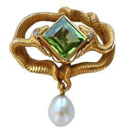 Art Nouveau jewelry by Wilhelm Lucas von Cranach (1861-1918)