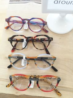 b0d7d35421e Round Menizzi frames in fun colors and shapes.