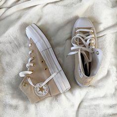 Converse Chuck Taylor, All Star, High Top Sneakers, Platform, Beige, Princess, Stars, Clothing, Fashion