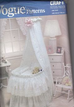 Vogue Baby Bassinet Cover And Accessories Uncut Factory Folded Bassinet Skirt…